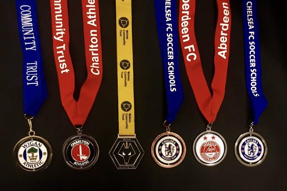 8. Spinning Bespoke Medal various clubs